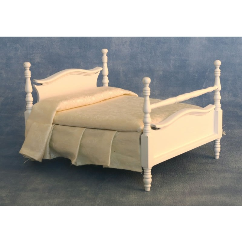 French-Style Double Bed White