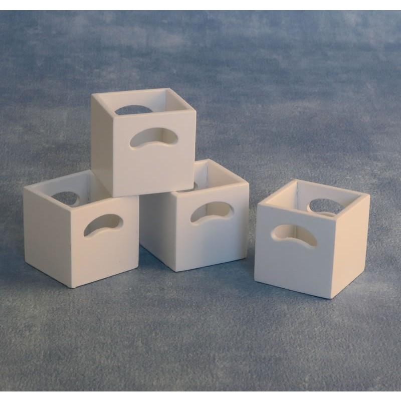 White Storage Boxes 4 pcs