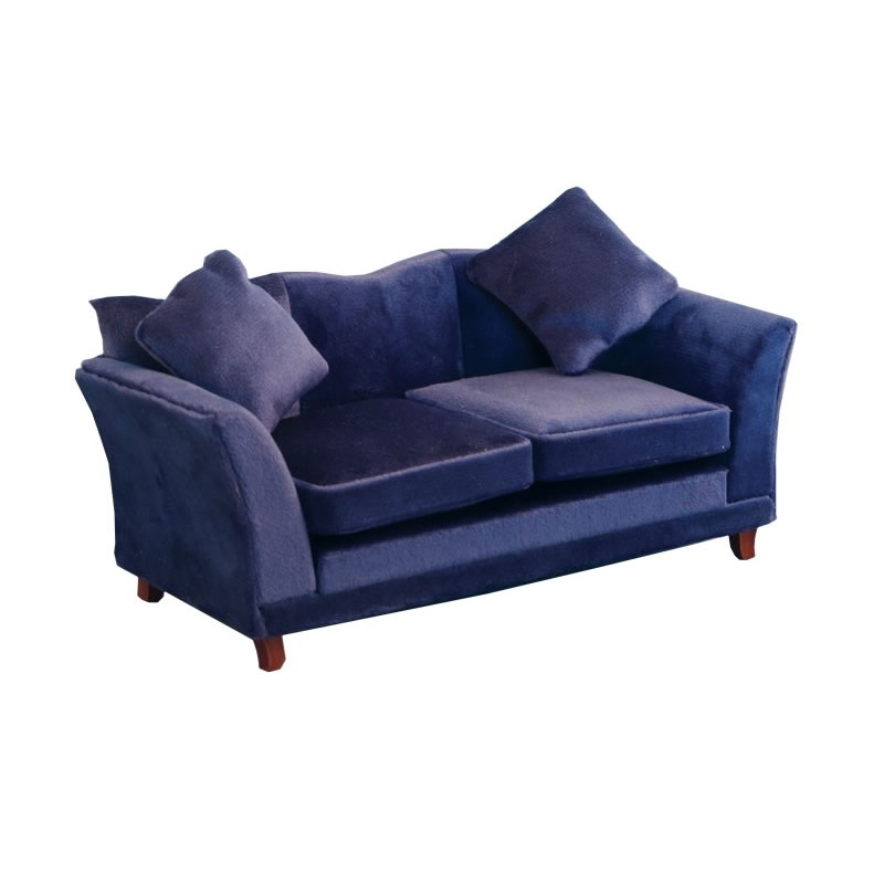 Royal Blue Modern Sofa