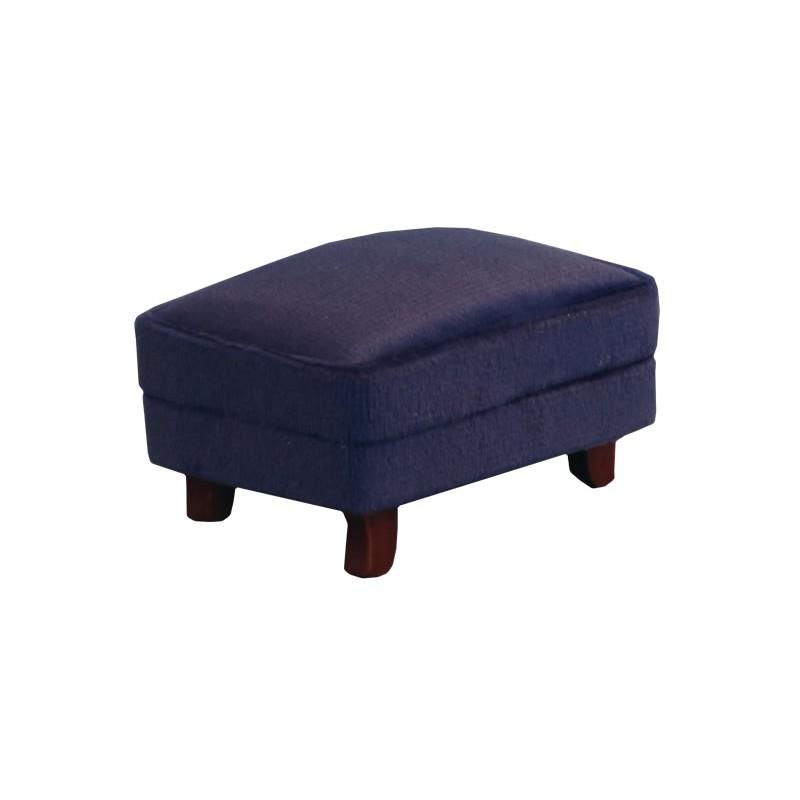 Royal Blue Modern Footstool