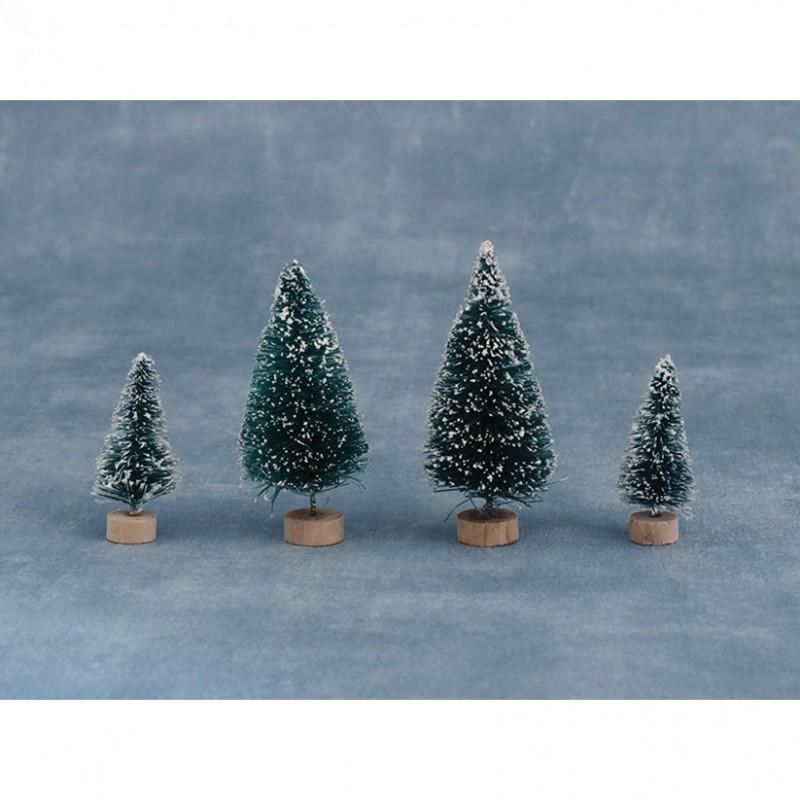 8 Mini Snowy Conifers Asst