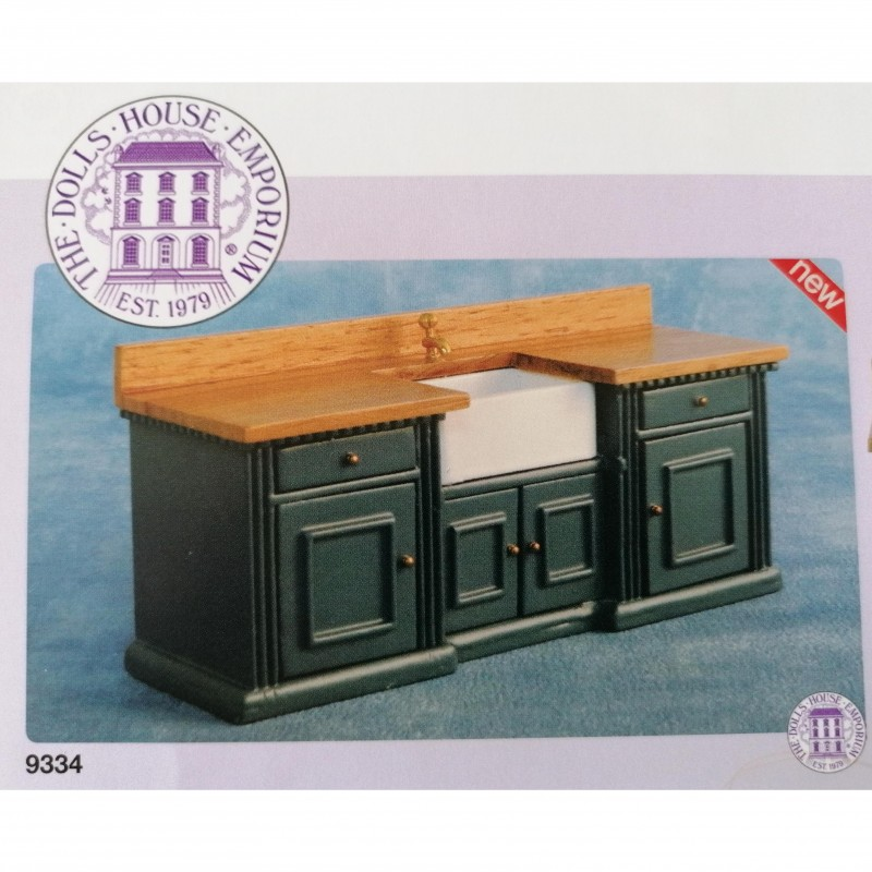 'Smallbone' Sink Unit Blue/Pine