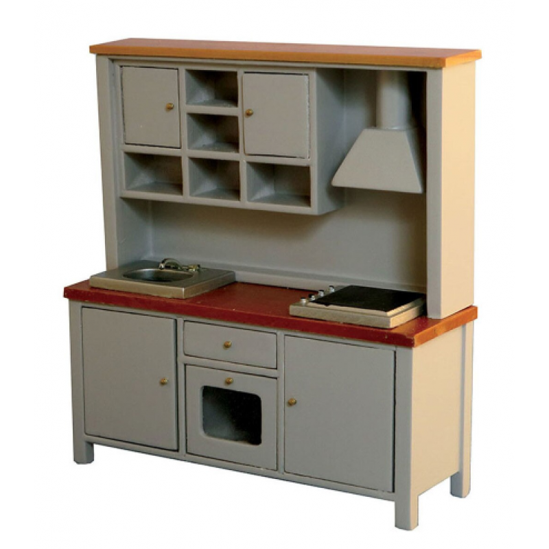 Grey/Pine All-in-one Kitchen System