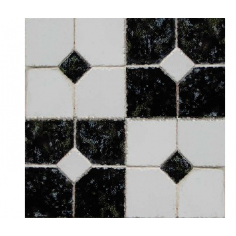 3/4inch Black & White Decorative Tiles, 4 Sets of 4