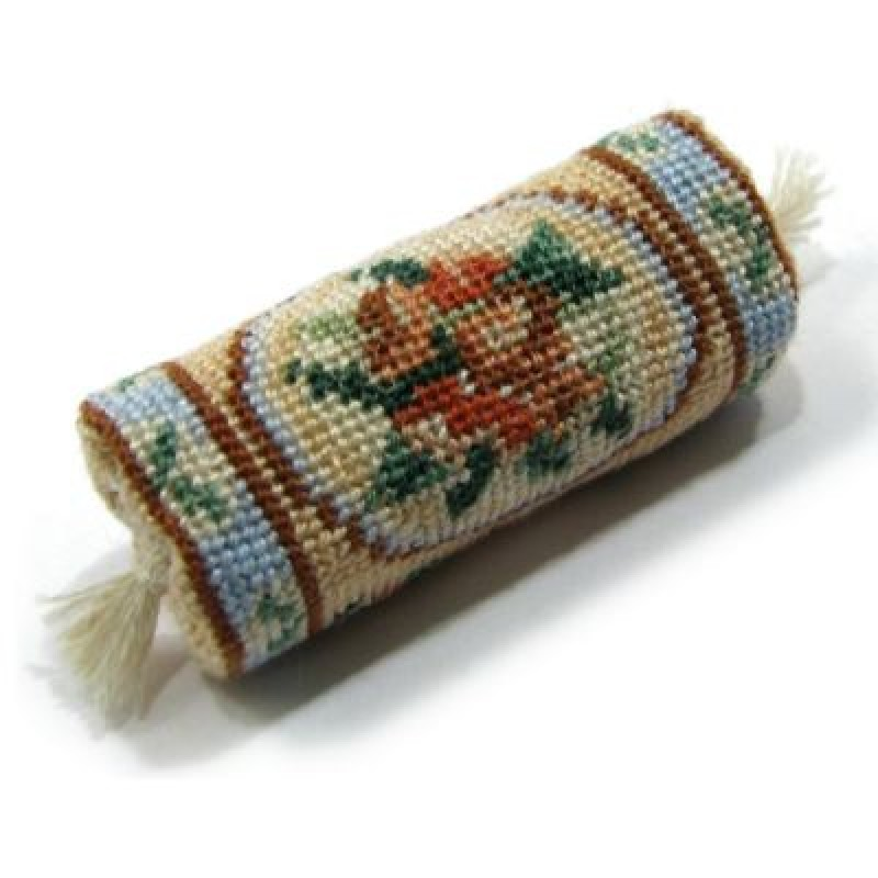 Alice (blue) Dolls' House Needlepoint Bolster Cushion Kit