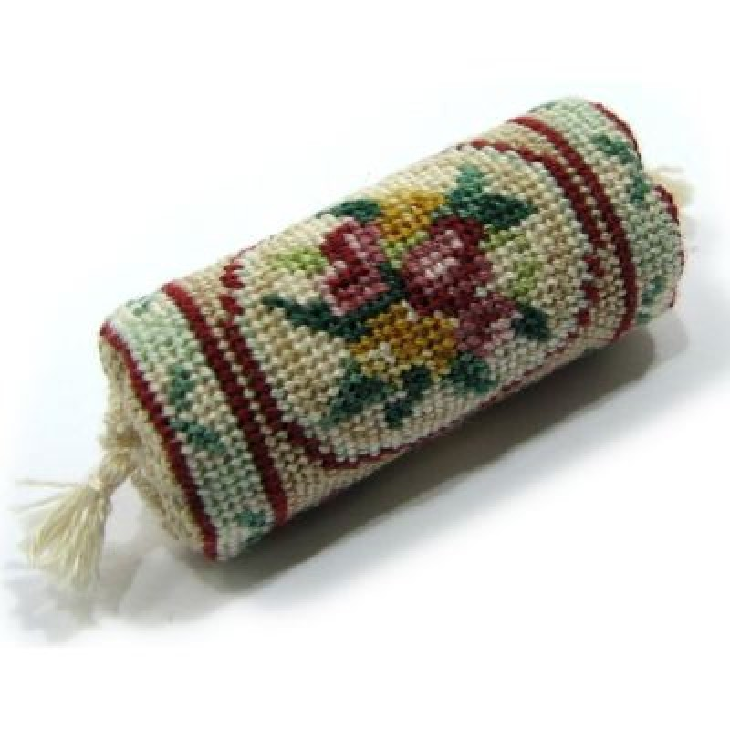 Alice (green) Dolls' House Needlepoint Bolster Cushion Kit