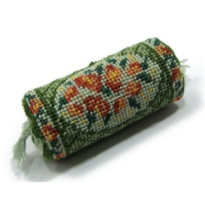 Barbara (green) Dolls' House Needlepoint Bolster Cushion Kit