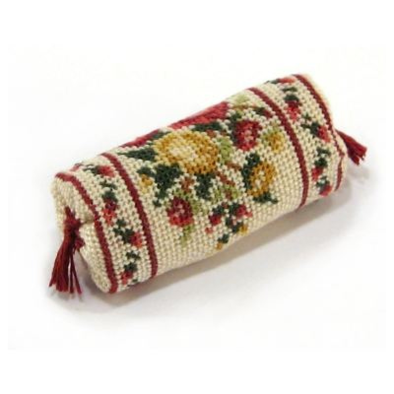 Summer Roses Dolls' House Needlepoint Bolster Cushion Kit