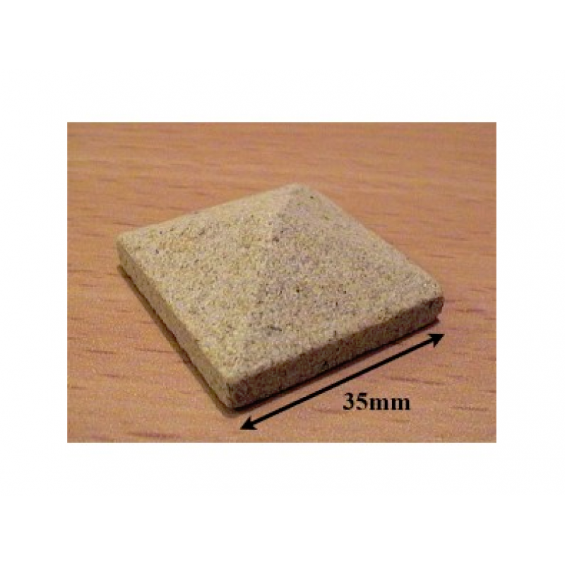 Yellow Sandstone Pier Cappings, 35mm Square, 2 Pack