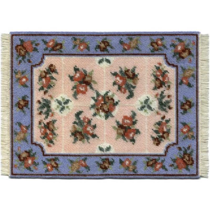 Alice (blue) Dolls' House Needlepoint Large Carpet Kit