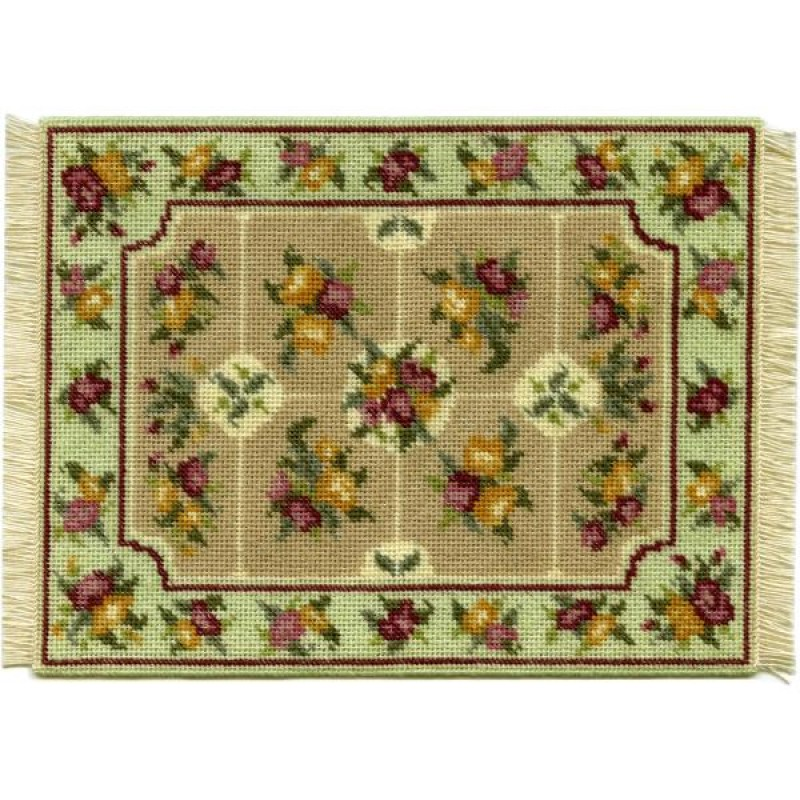 Alice (green) Dolls' House Needlepoint Large Carpet Kit