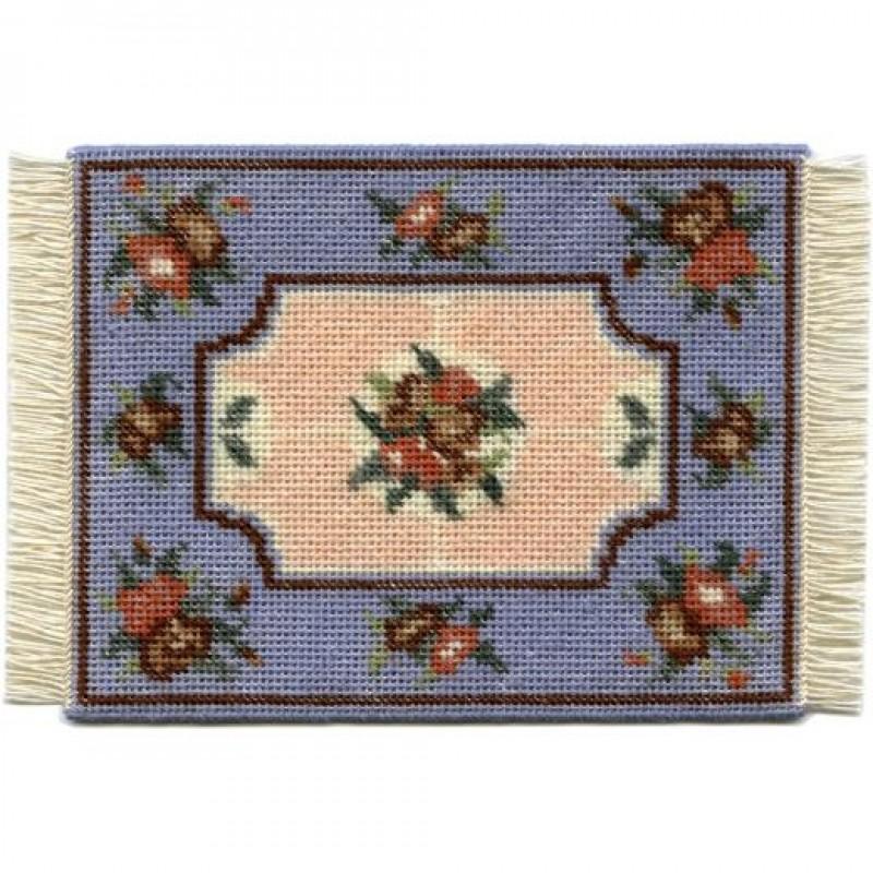Alice (blue) Dolls' House Needlepoint Small Carpet Kit