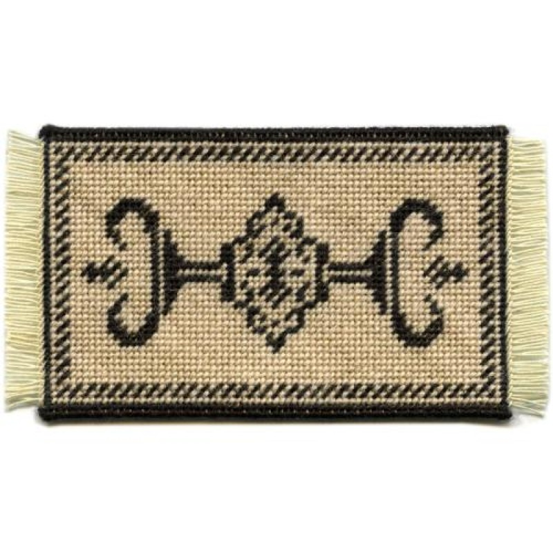 Alison (charcoal) Dolls' House Needlepoint Small Carpet Kit