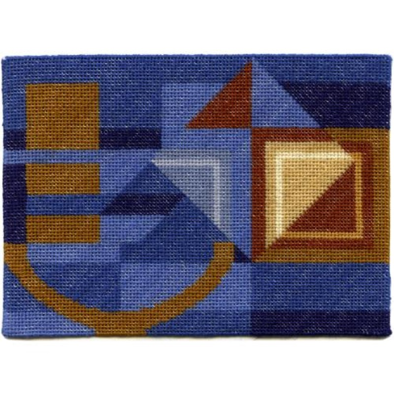 Alma (blue) Dolls' House Needlepoint Medium Carpet Kit