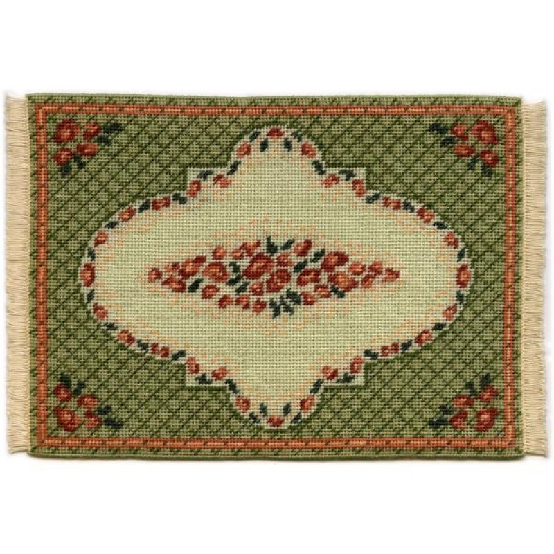 Barbara (green) Dolls' House Needlepoint Large Carpet Kit