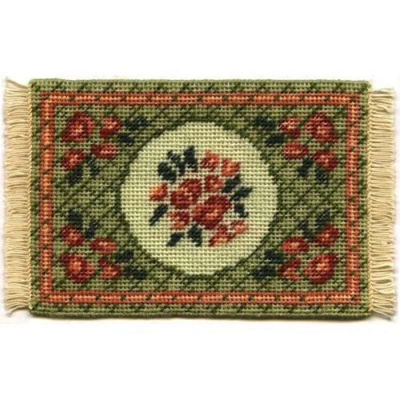 Barbara (green) Dolls' House Needlepoint Small Carpet Kit
