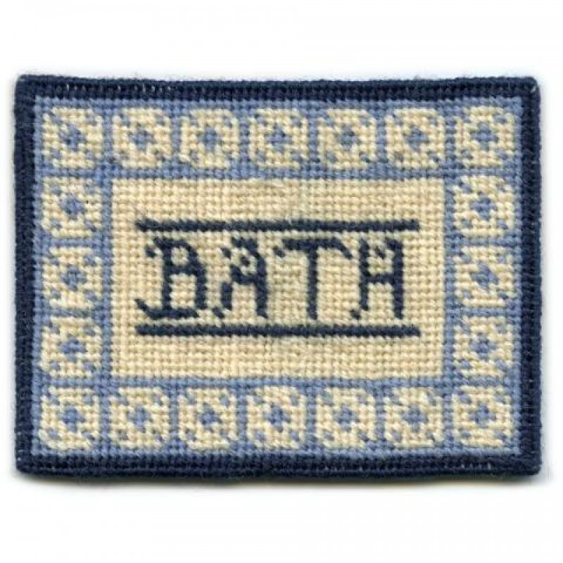 Bathmat (blue) Dolls' House Needlepoint Small Carpet Kit
