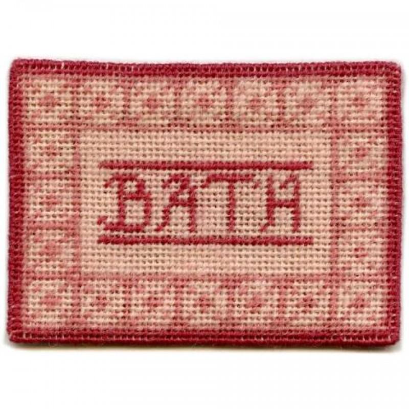 Bathmat (pink) Dolls' House Needlepoint Small Carpet Kit