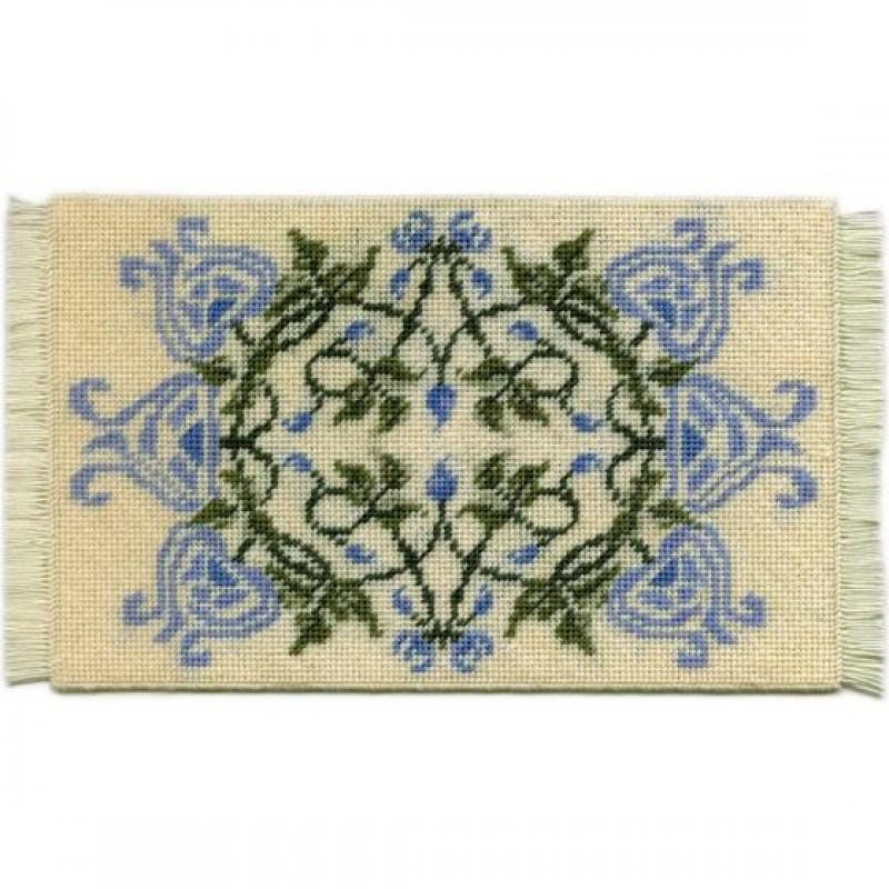 Josie (blue) Dolls' House Needlepoint Medium Carpet Kit