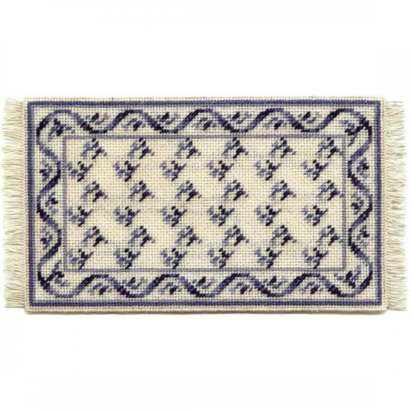 Veronica (blue) Dolls' House Needlepoint Medium Carpet Kit