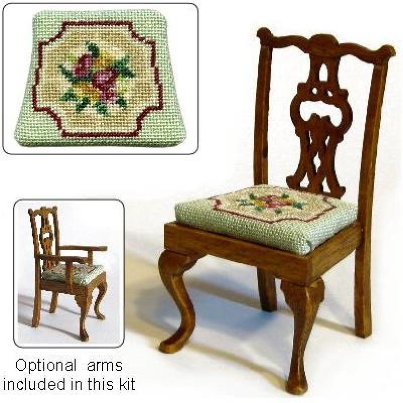 Alice (green) Dolls' House Needlepoint Dining Chair Kit