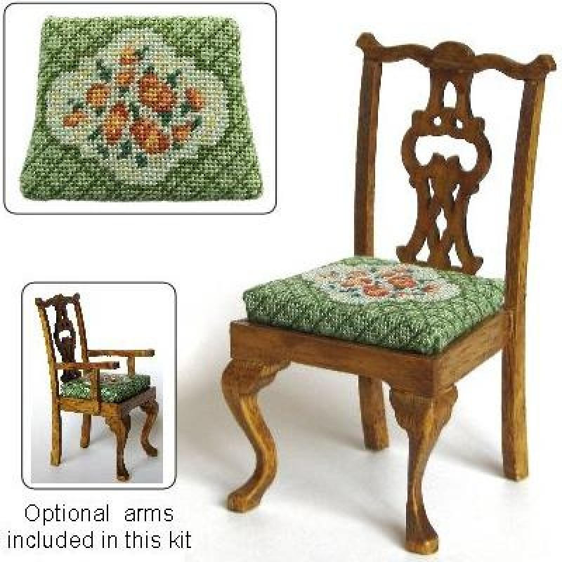 Barbara (green) Dolls' House Needlepoint Dining Chair Kit