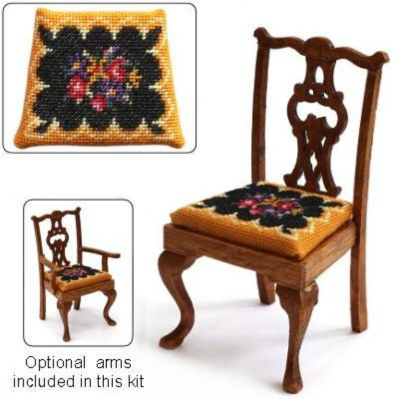 Berlin Woolwork Dolls' House Needlepoint Dining Chair Kit