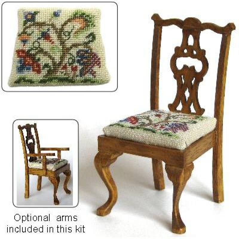 Tree of Life Dolls' House Needlepoint Dining Chair Kit