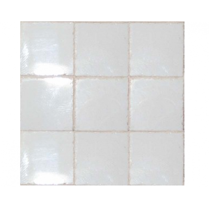 3/4inch Clouded White Ceramic Tiles, 50 Pack
