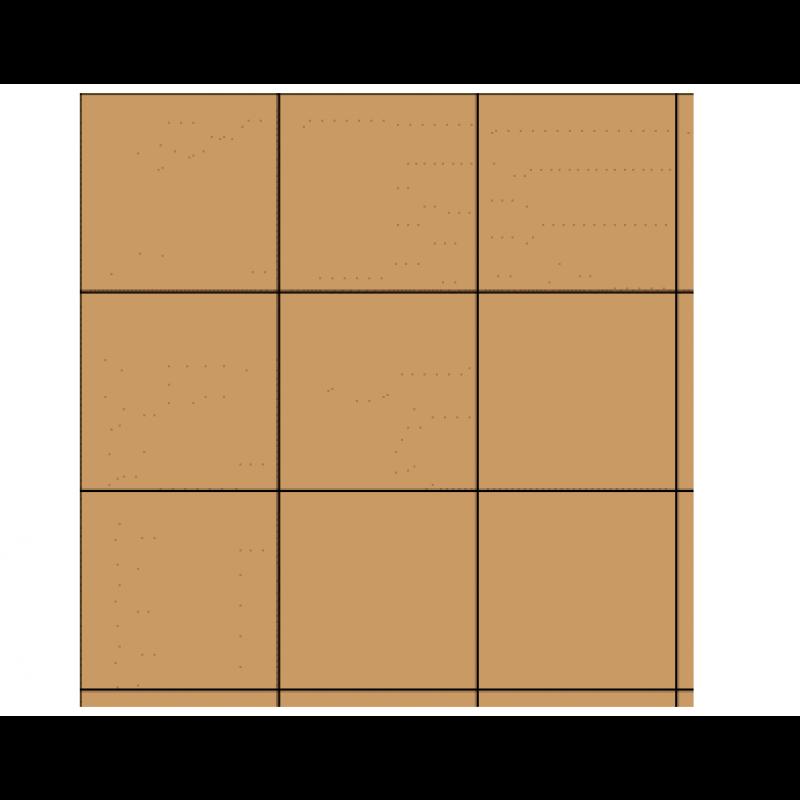 """3/4"""" Coffee Vinyl Tiles, 50 Pack"""
