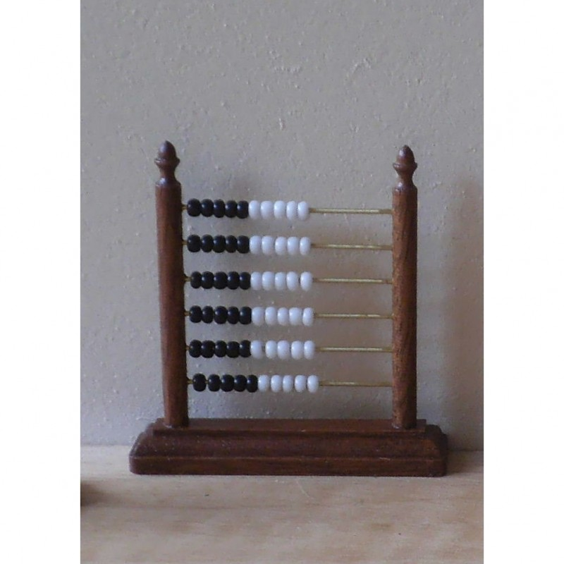 Counting Frame With Black And White Beads
