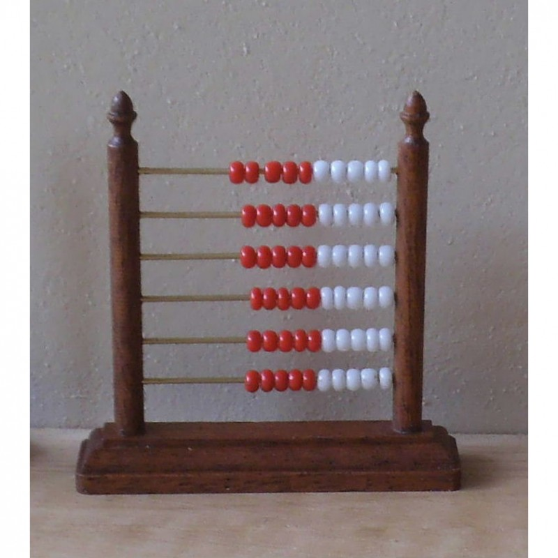 Counting Frame Kit With Red And White Beads