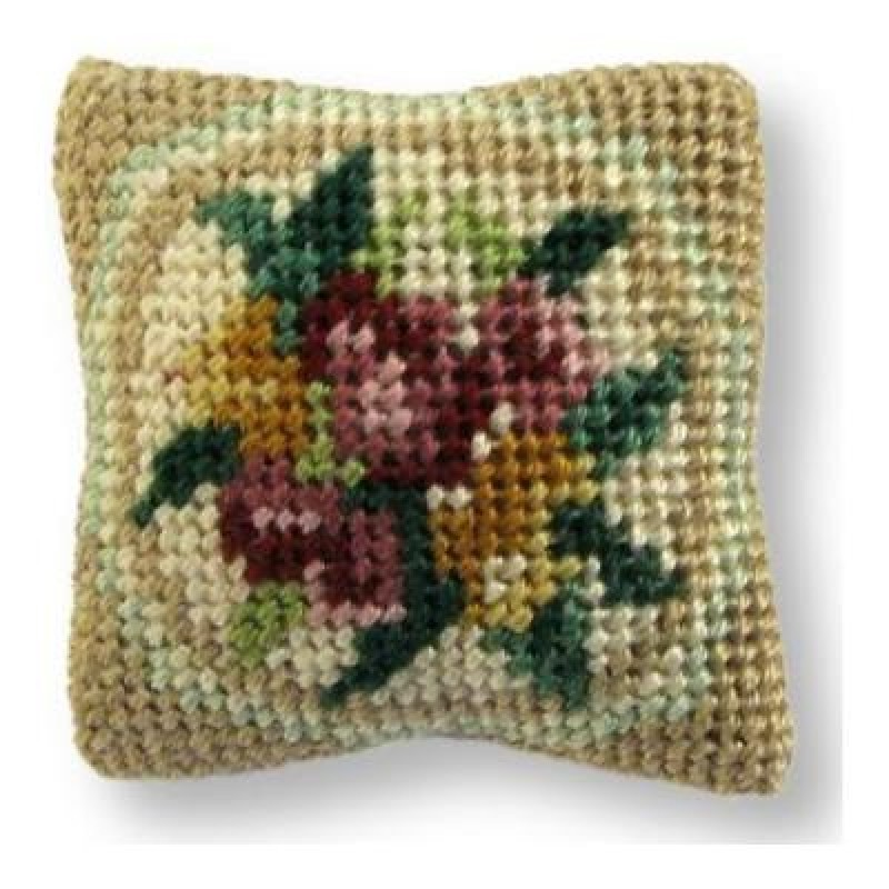 Alice (green) Dolls' House Needlepoint Cushion Kit