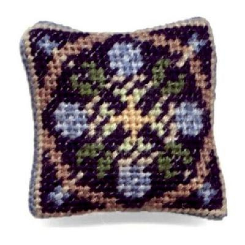 May (blue) Dolls' House Needlepoint Cushion Kit
