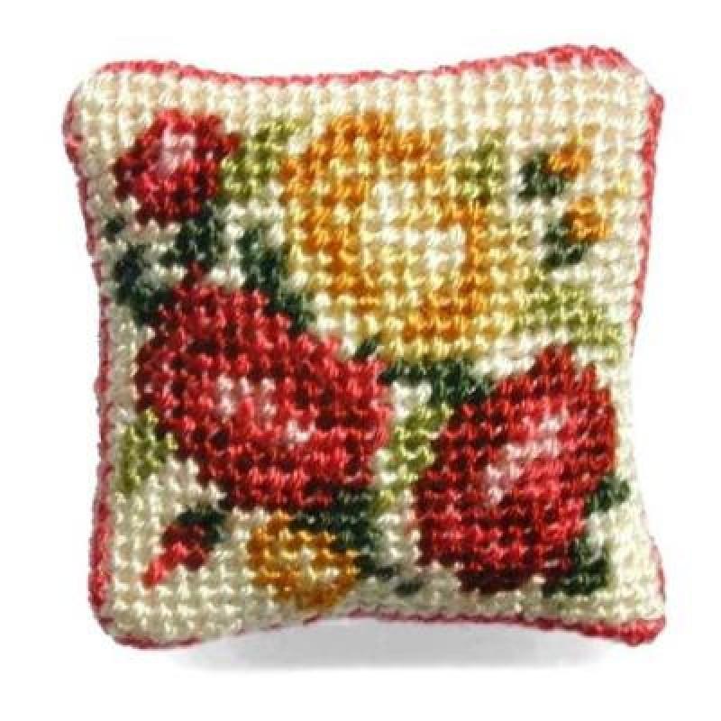 Summer Roses Dolls' House Needlepoint Cushion Kit