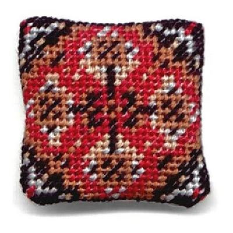 Yvonne (red) Dolls' House Needlepoint Cushion Kit