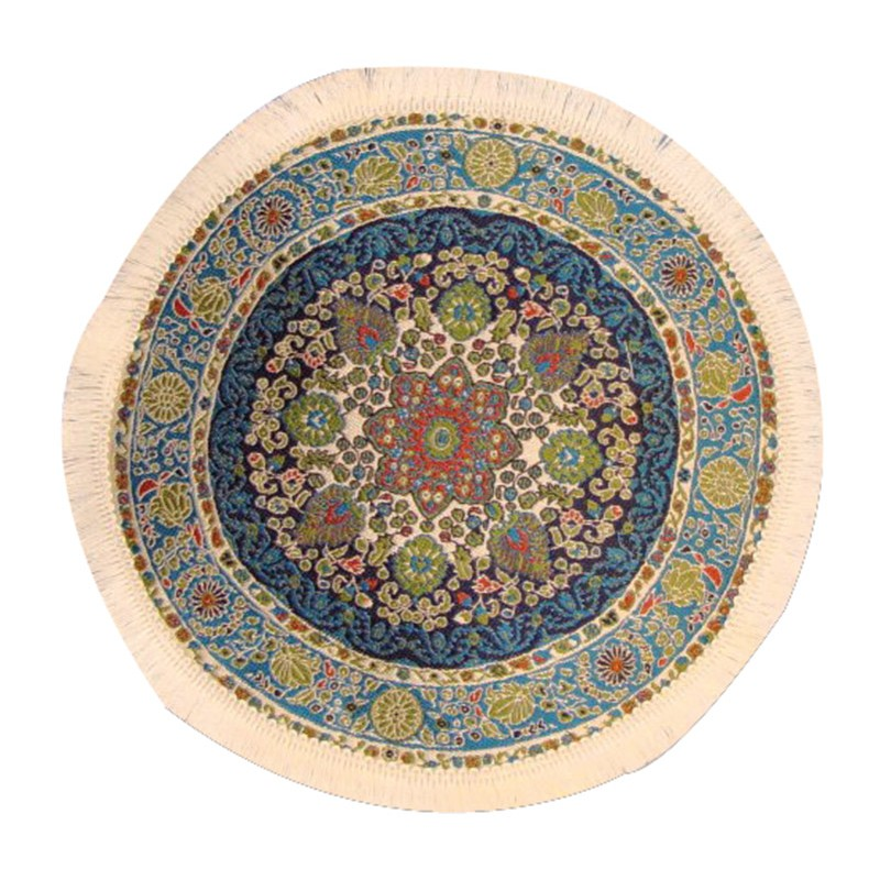 Circular Turkish Carpet Blue 190mm