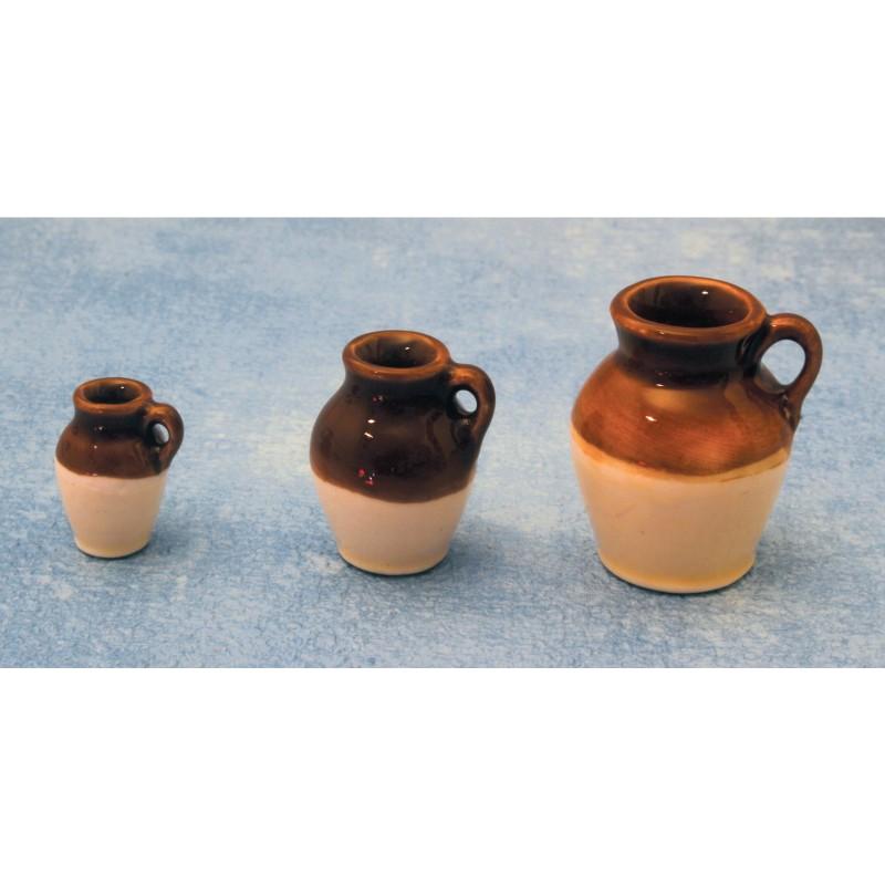 Set of 3 Stoneware Jugs