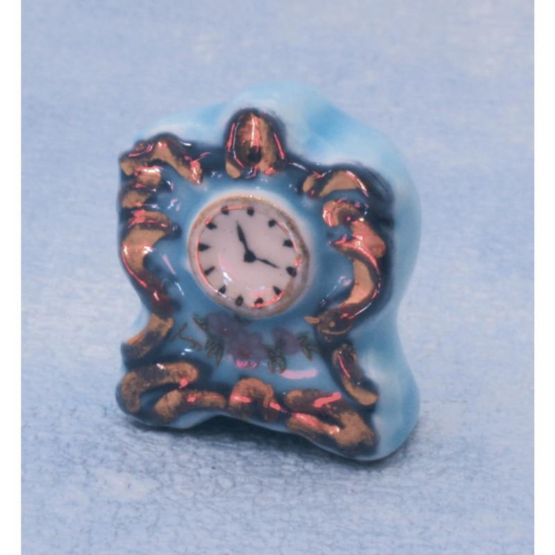 Blue/gold Ceramic Clock