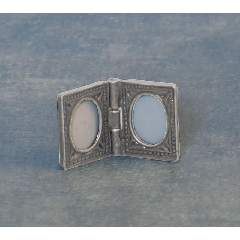 Silver Double Photo Frame