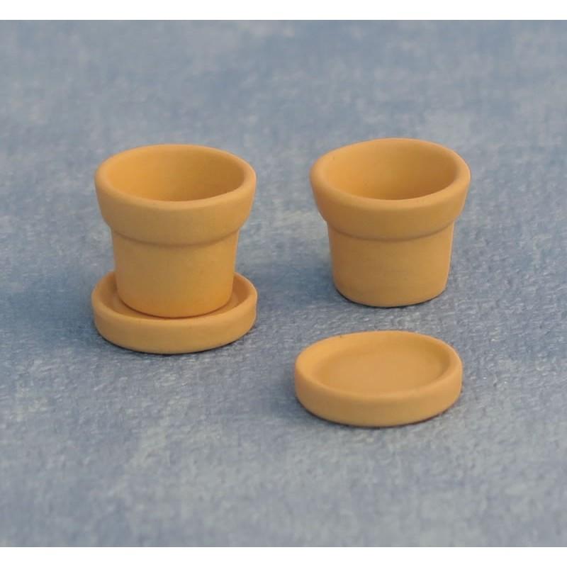 Pots and Saucers pk 2 pair