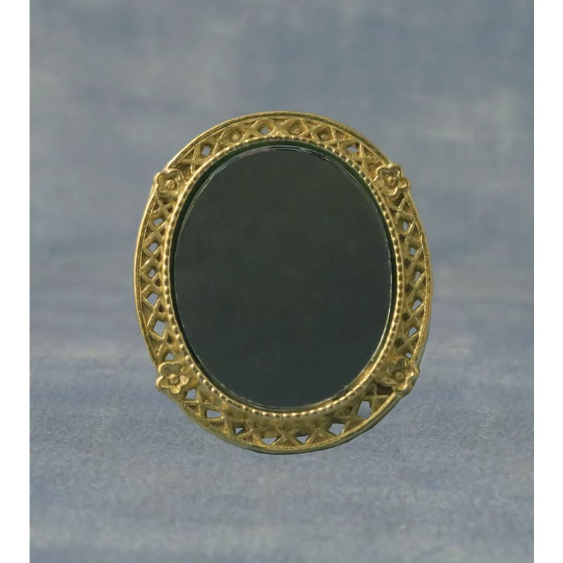 Babettes Miniaturen Oval Mirror