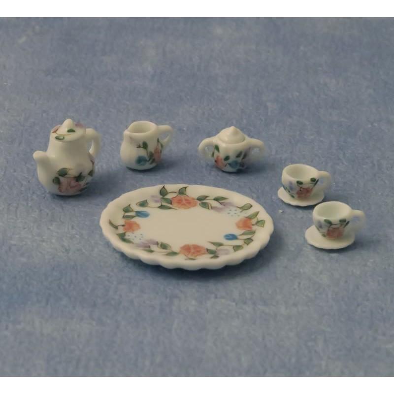 Babettes Miniaturen Small Flower Tea Set