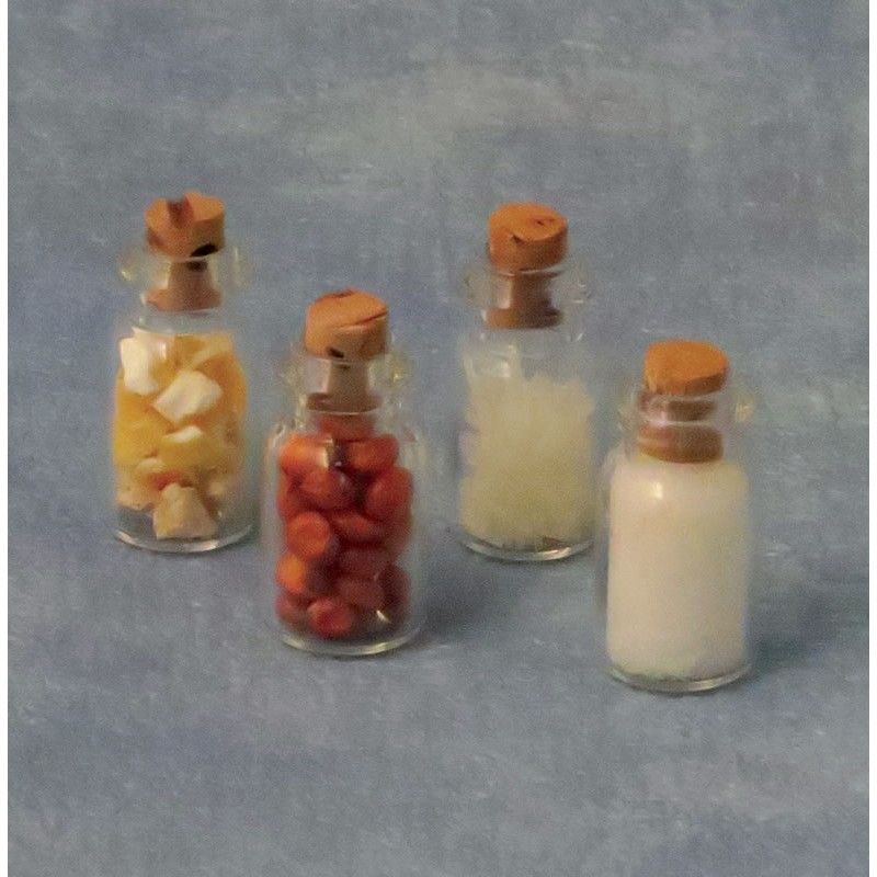 Babettes Miniaturen 4 Spice Bottles