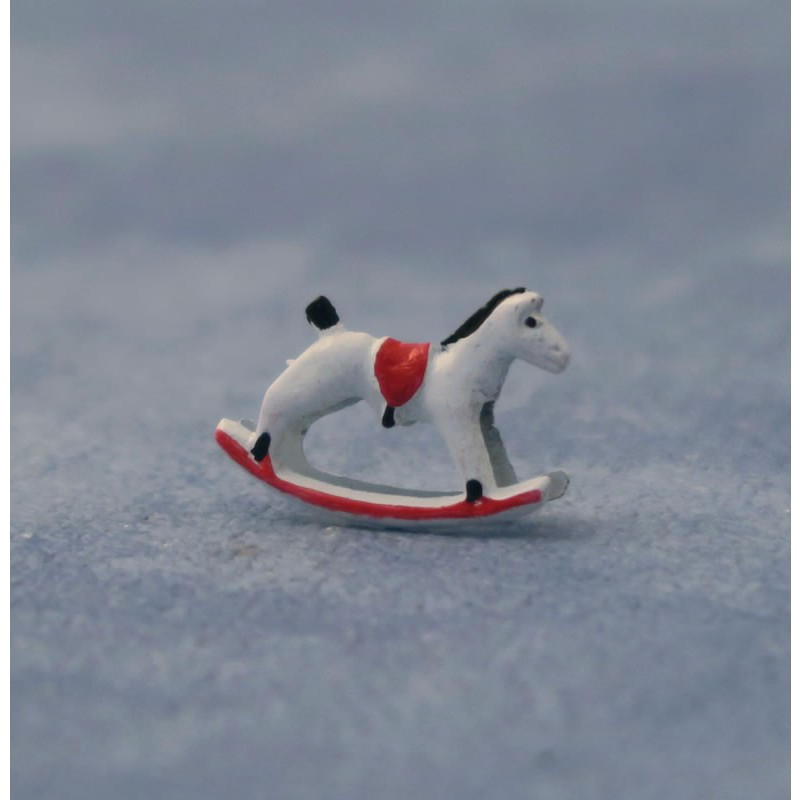 Babettes Miniaturen Toy Rocking Horse pk1