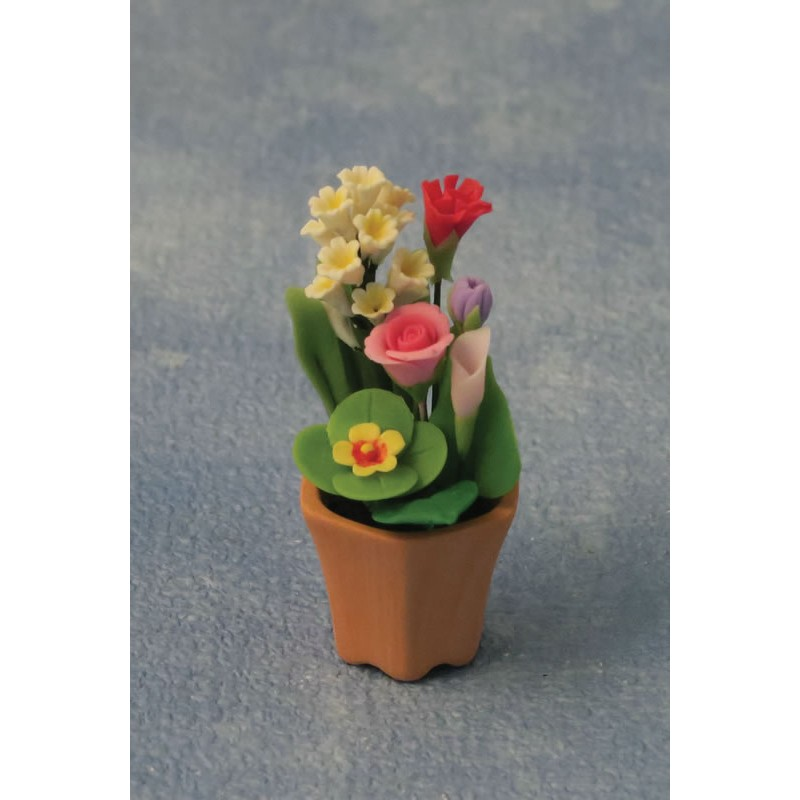 Babettes Miniaturen Flower arrangement in Pot