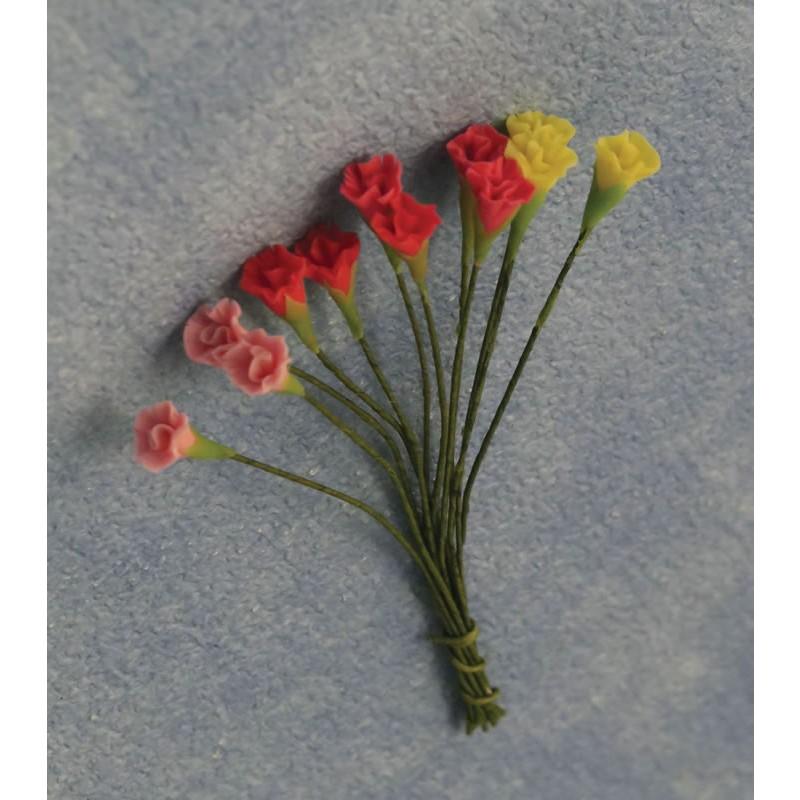 Babettes Miniaturen Carnations 12pc