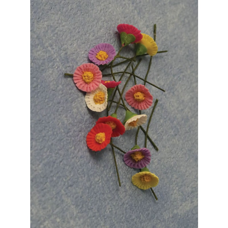 Babettes Miniaturen Gerbera Flowers 12pc