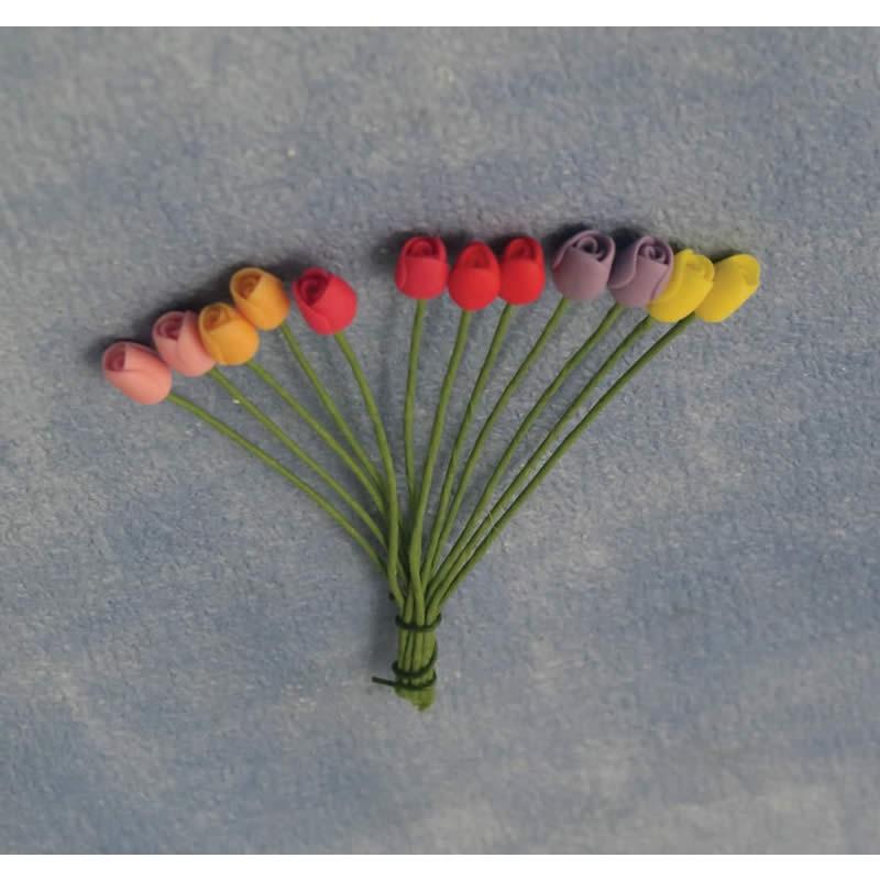 Babettes Miniaturen Tulips pk12