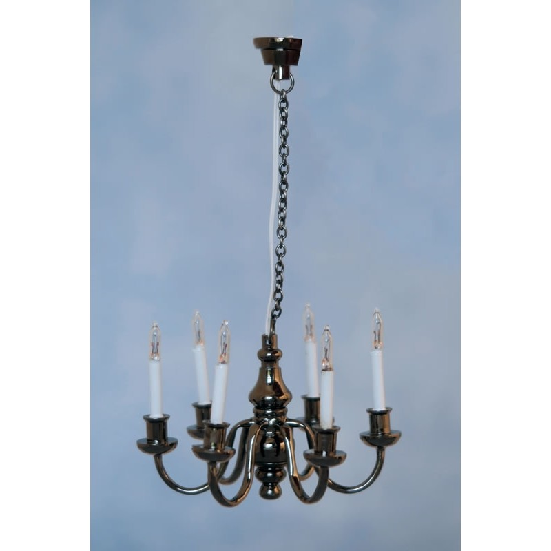 Streets Ahead Black 6 Arm Chandelier